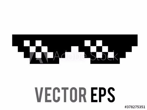 7 Pixel Sunglasses Funny Meme Jdm Car Window Sticker Decal Choice Of Colours Ebay Adesivos Legais Adesivos