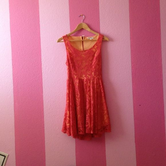Nordstrom BP lace dress Lace skater dress! Worn once and in good condition :) price is flexible! Also fits like a s/m!! Dresses