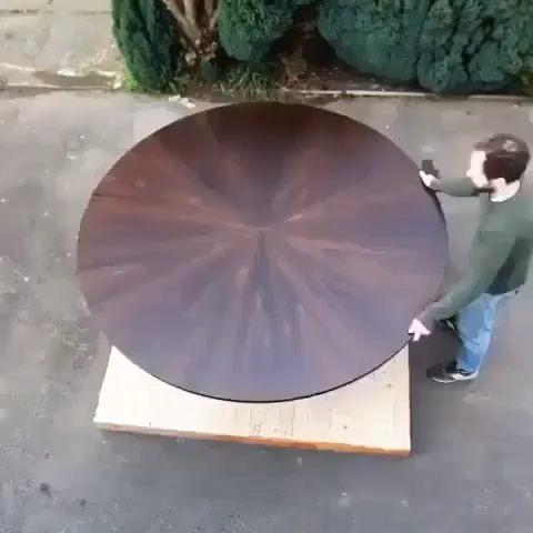 Large expanding dining table