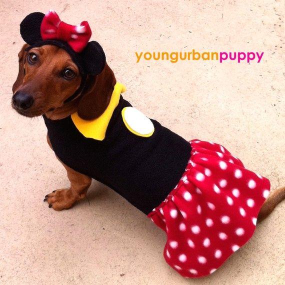 Minnie Mouse Disney Dress Dog Costume By Youngurbanpuppy On Etsy