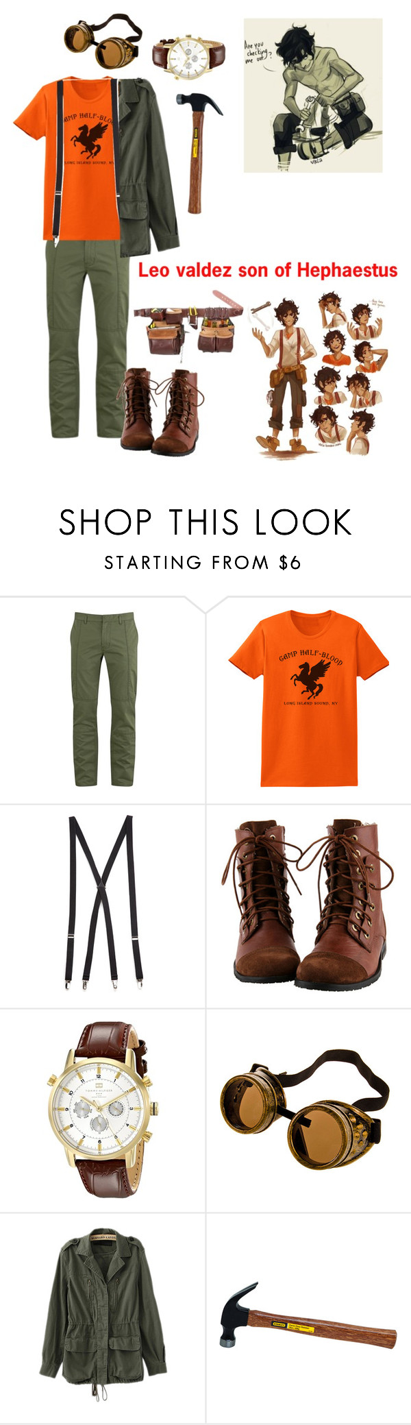 """""""Leo valdez son of Hephaestus"""" by gglloyd ❤ liked on Polyvore featuring Marc by Marc Jacobs, Forever 21, Tommy Hilfiger, women's clothing, women's fashion, women, female, woman, misses and juniors"""