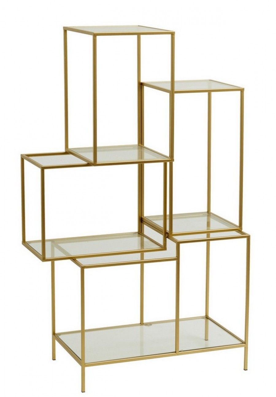Holzregal Metall Regal Metall Glas Gold H 126cm Haus Glass Shelves Kitchen
