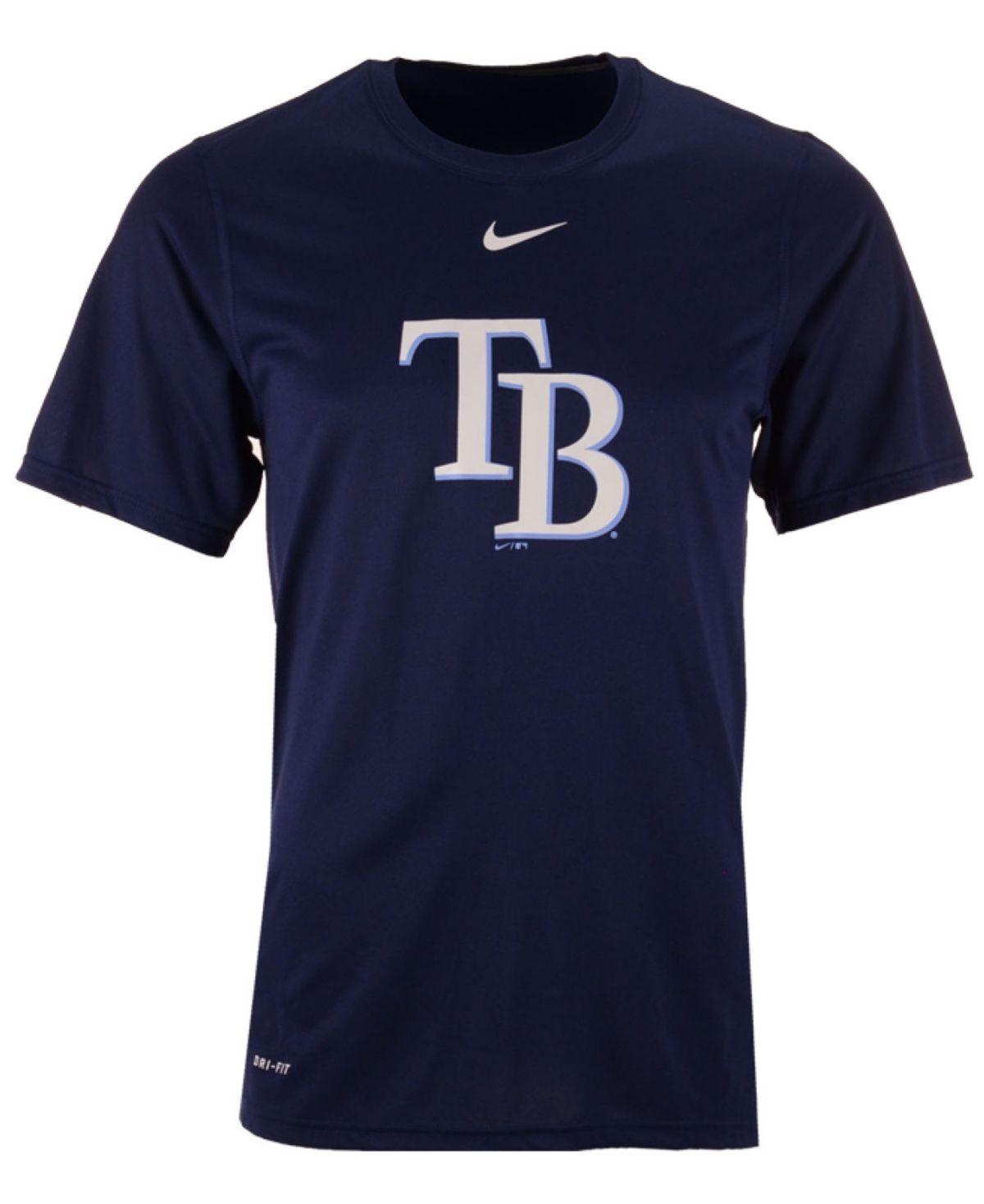 Nike Men's Tampa Bay Rays Bp Logo Legend TShirt Navy