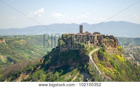 Civita Di Bagnoregio Viterbo Province Lazio Region Italy