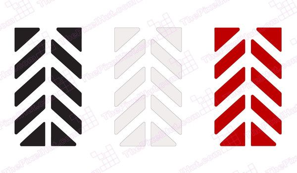 Reflective Safety Decal Kit Chevron For Arai XD Motorcycle - Motorcycle helmet decals graphicsreflectivedecalscomour decal kit on the bmw systemhelmet