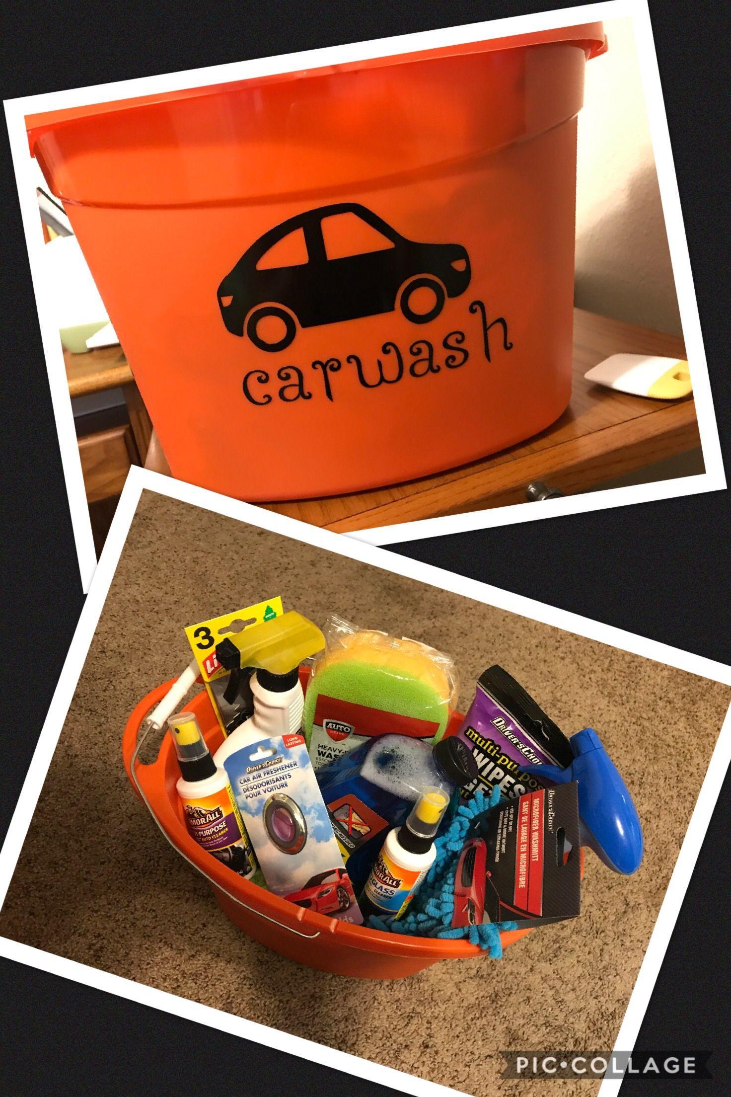 Car wash gift basket 16th birthday gifts, Car gift