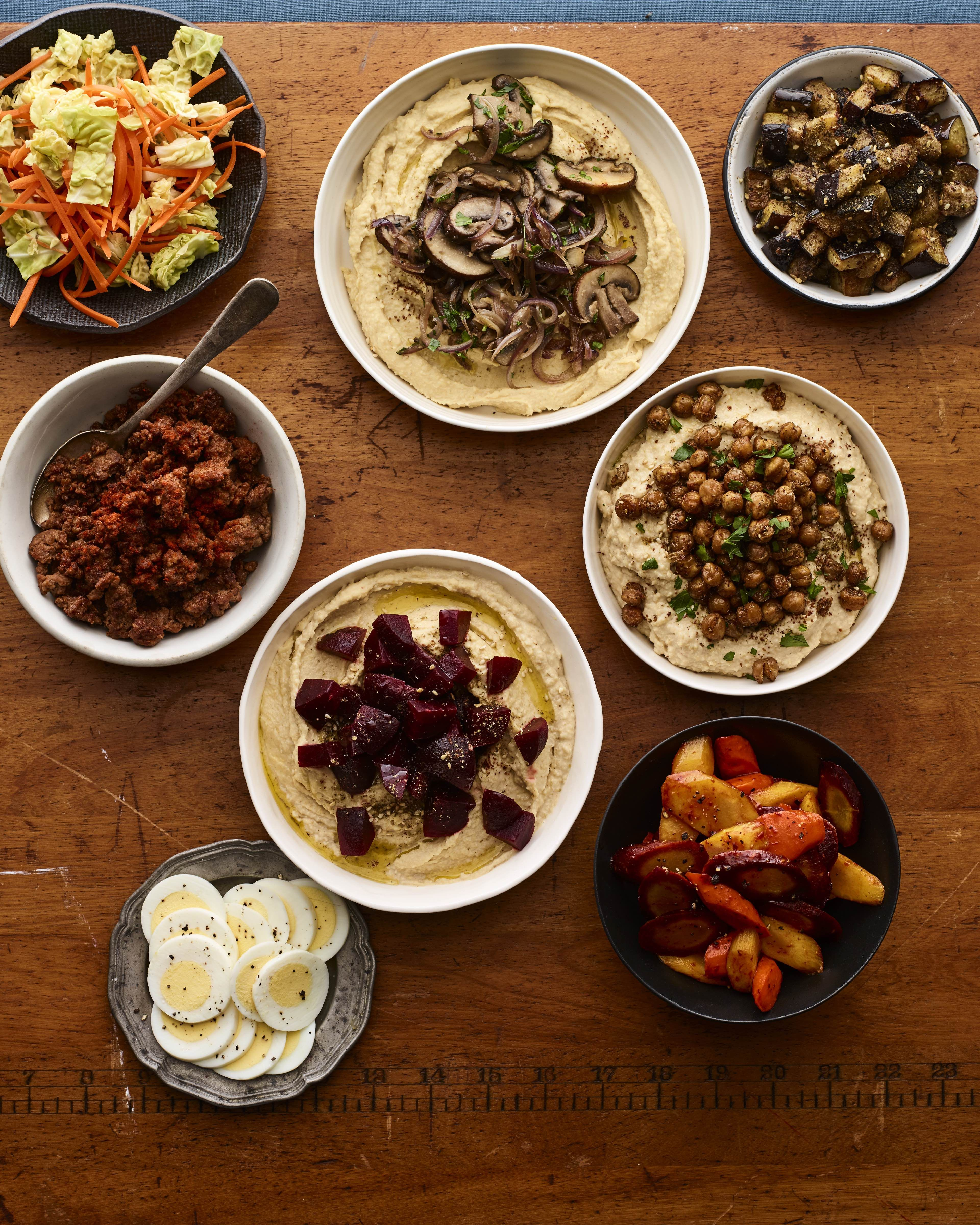 Hummus Party Shabbat Menu