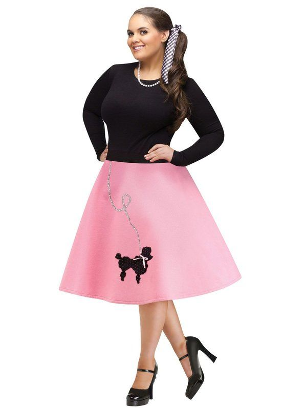 Check out Plus Size Poodle Skirt Costume - 50s Halloween Costumes from Costumeu2026  sc 1 st  Pinterest & Check out Plus Size Poodle Skirt Costume - 50s Halloween Costumes ...