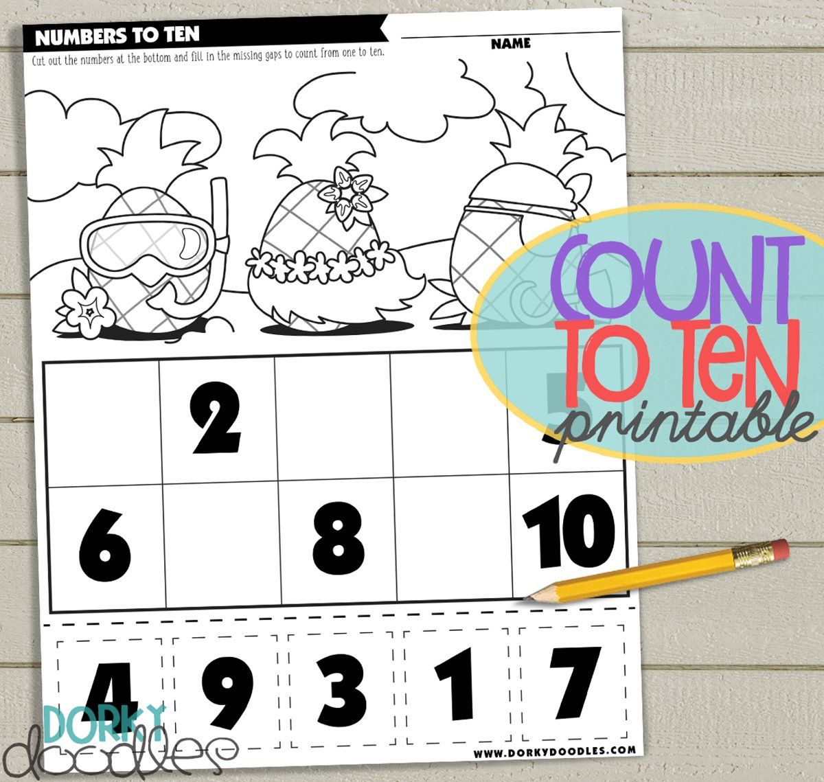 Counting To Ten Printable Worksheet With Images