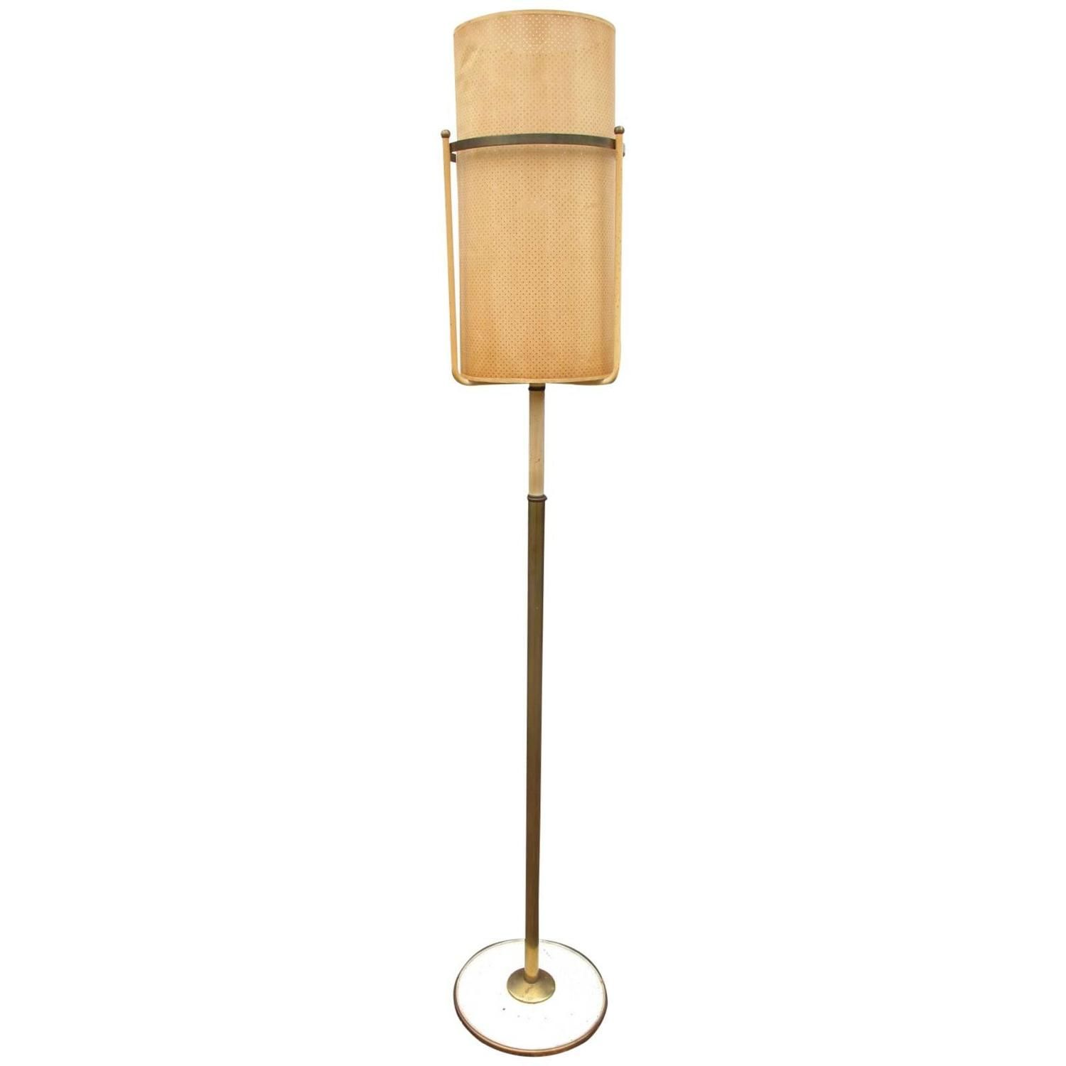 Paper Shade Floor Lamp Classy 20Th Century Floor Lamp With Perforated Paper Shade  Floor Lamp Review