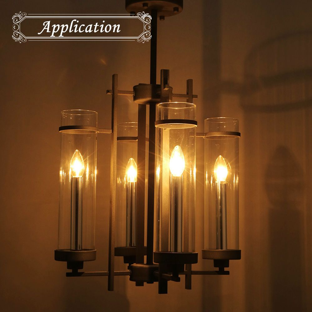 led chandelier light bulbs. E14 Vintage LED Filament Candle Light Bulbs 4W SES Bulb For Chandelier Led