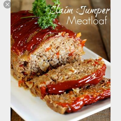 Claim Jumper Meatloaf Recipe Recipe Good Meatloaf Recipe Recipes Meat Recipes