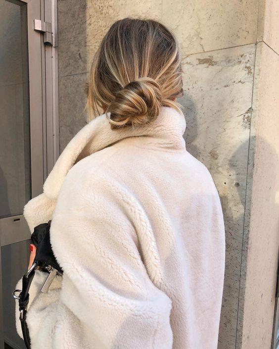 Dirty Blonde Hair in Bun