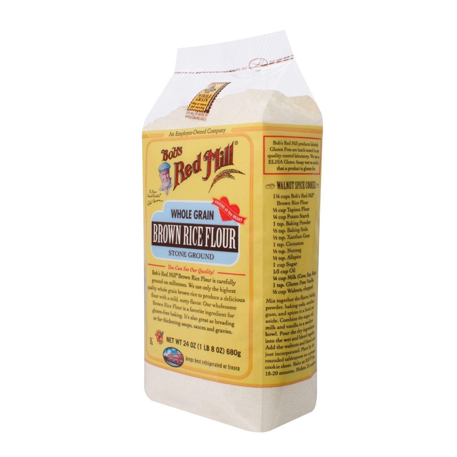 Bob's Red Mill Gluten Free Brown Rice Flour 24 Oz Case