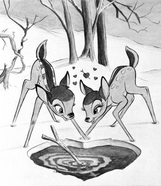 Bambi + Faline = <3 | Randoms | Pinterest | Ausmalbilder