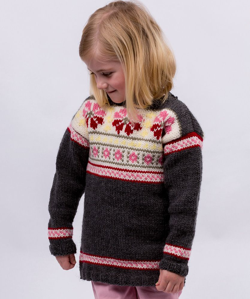 0d95acb0688f Free Knitting Pattern for a Girls Fair Isle Tunic