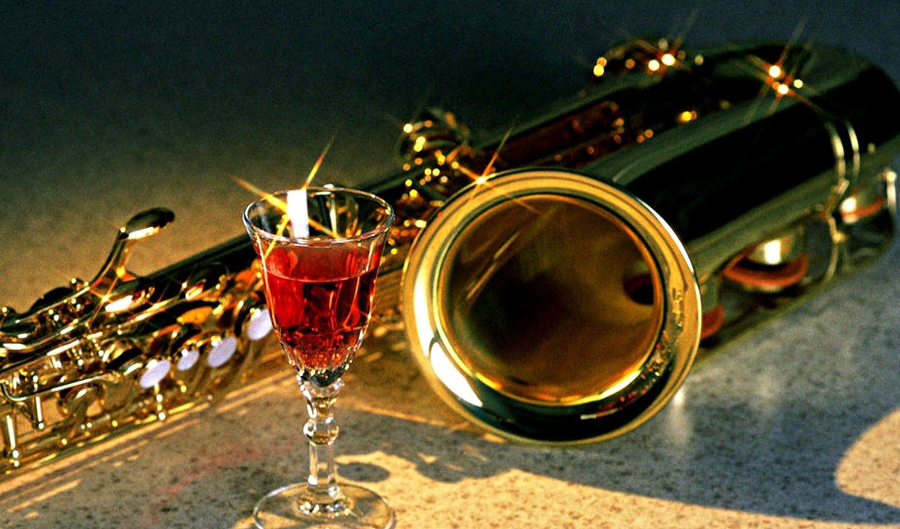 Открытки с саксофонистом, крестному