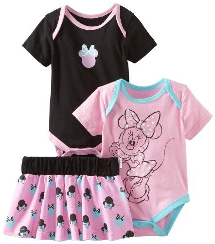 Disney Baby Girls Newborn 2 Bodysuits And Skirt Set For Only 13 00
