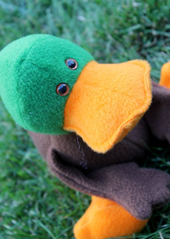 Plush Mallard Duck Ducky Ducky Mallard Plush Etsy
