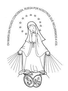 Dibujos Para Catequesis Virgen De La Inmaculada
