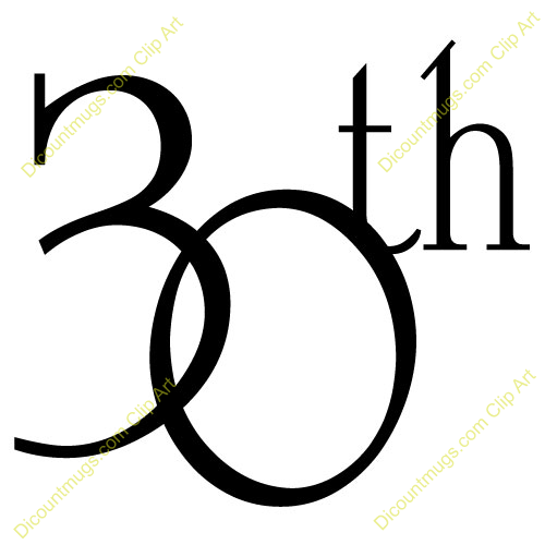 number 30 clip art 30th anniversary text 30th anniversary ideas rh pinterest com au