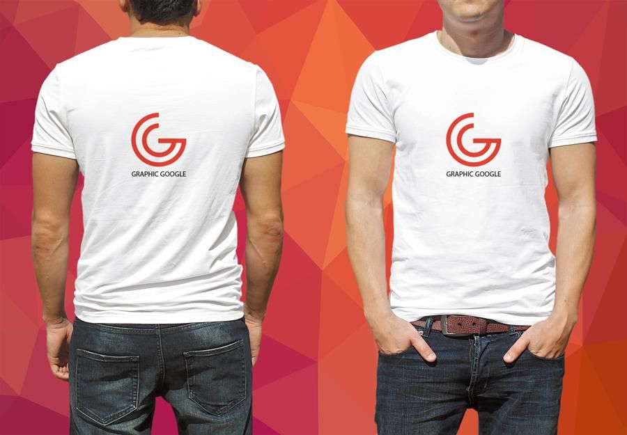 Download Free Psd Mockup Of Man Model Wearing White T Shirt With Front Amp Back View Download This Photoshop From The O Shirt Mockup Tshirt Mockup Tshirt Mockup Free