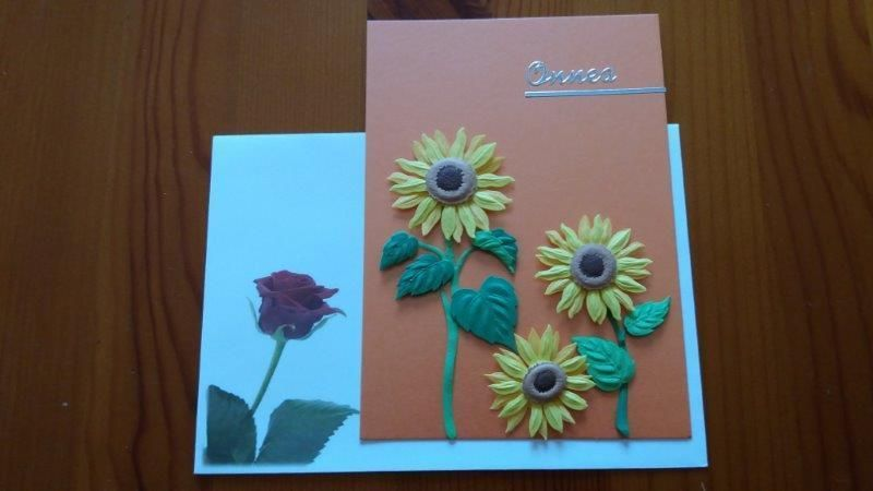 Onni-kortti Onnea Auringonkukat oranssi