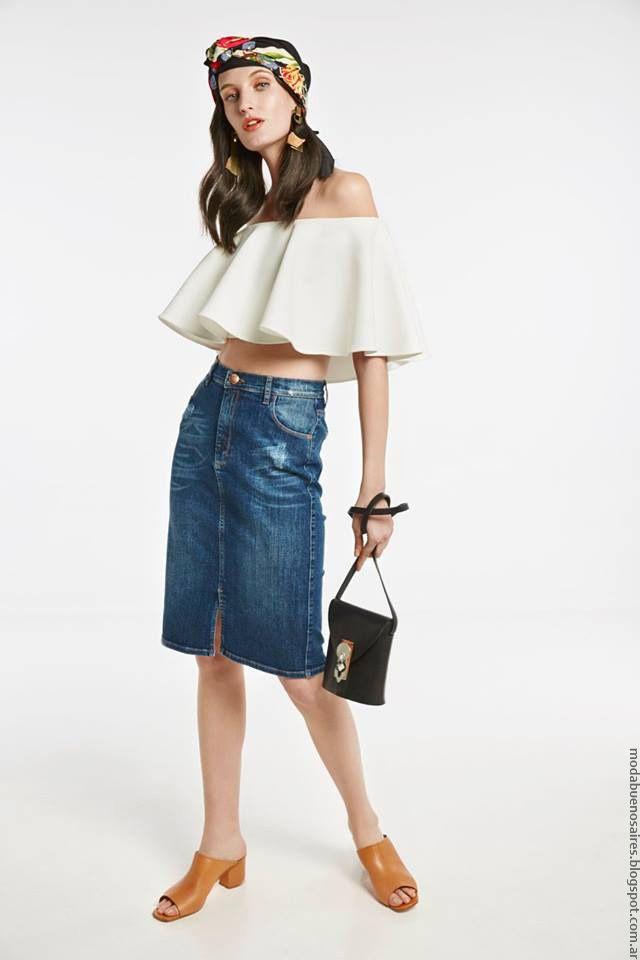cfeeb5c4f2 Blusas de moda primavera verano 2017 ropa de mujer marca argentina María  Cher.