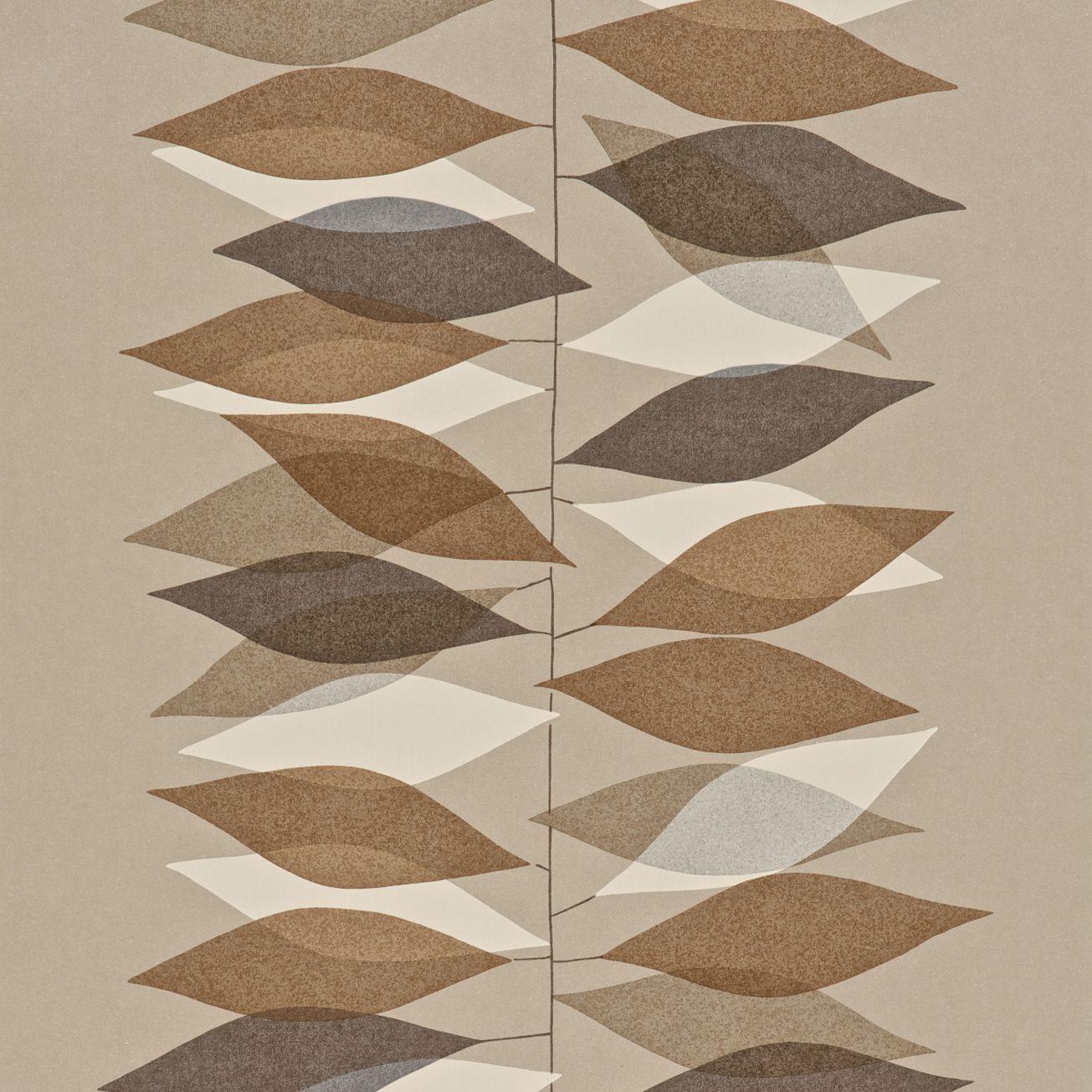 Miro 50u0027s Wallpaper Browns Neutrals Cream Sanderson   Design Details