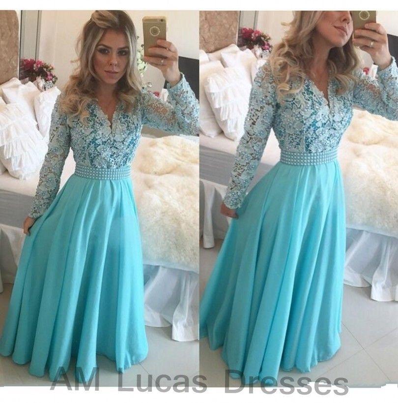 Luxus Abendkleider Mit Langen Ärmeln 2016 Vestido De Festa ...