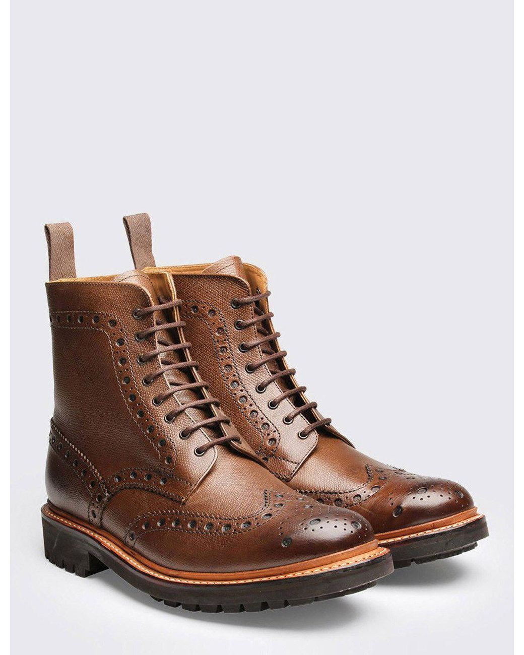 4975b623275 Men's Brown Fred Brogue Boot (commando Sole) | ├ MY WISH LIST ...