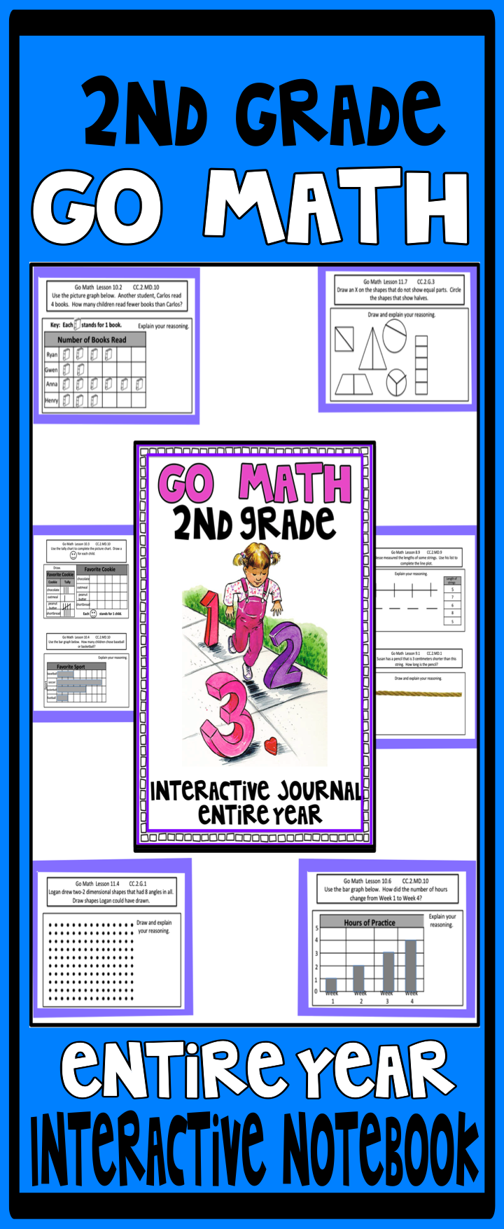 This Is A Year Long 2nd Grade Interactive Notebook Companion To The