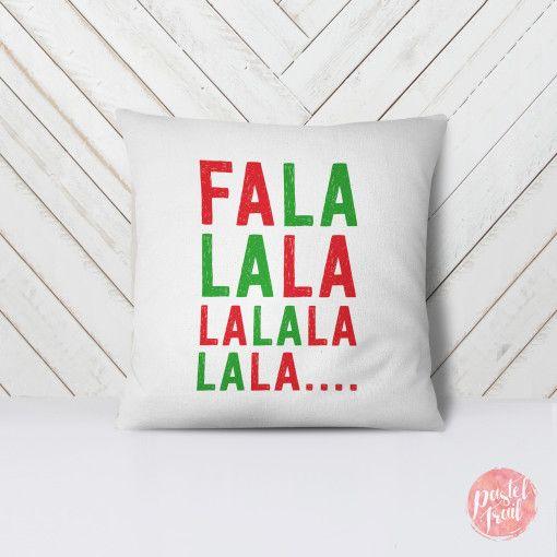 Fa la la Christmas song – Throw Pillow Case – Pillow Cover ...