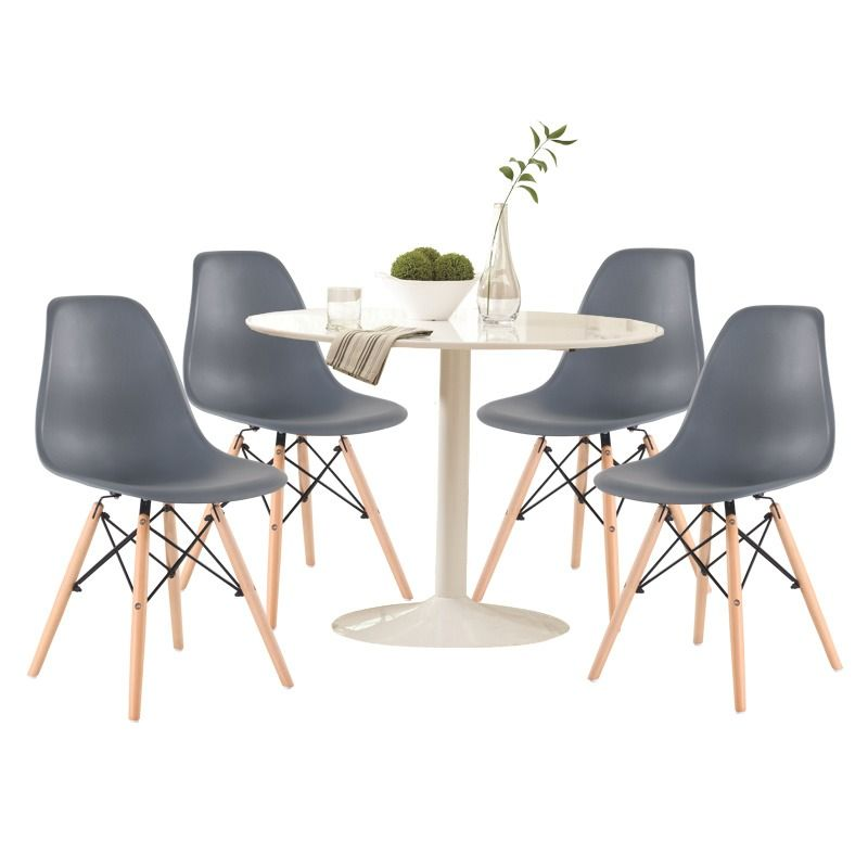 Lowry 5 Piece White And Gray Dining Set | Weekends Only Furniture And  Mattress