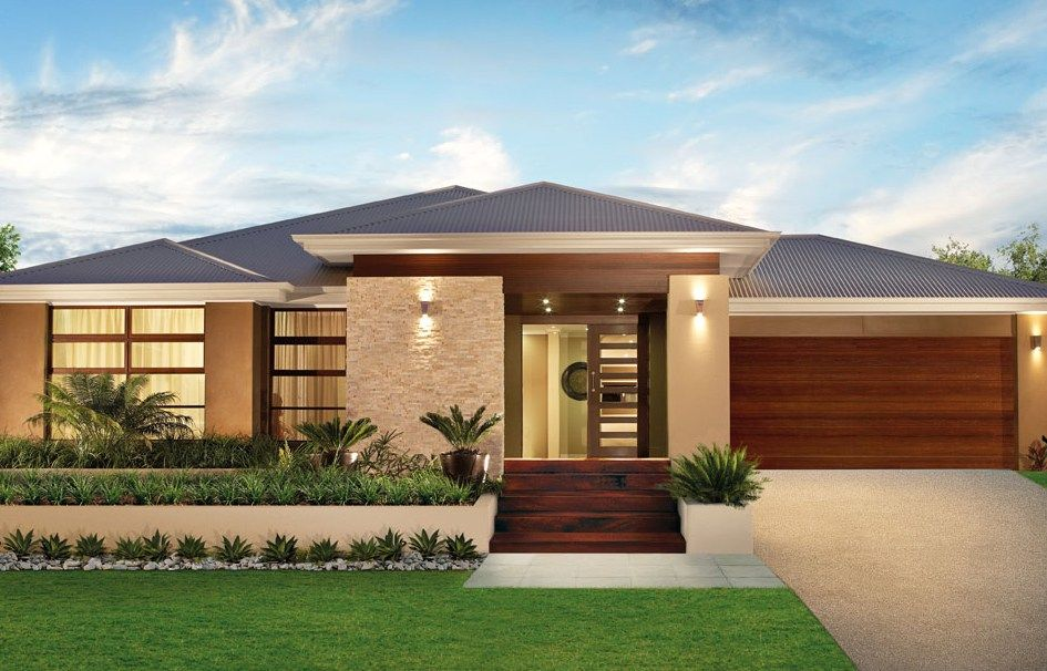 Single Story Modern Home Design Simple Contemporary House Plans Simple Home Design Story Black Hai Facade House Contemporary House Plans House Designs Exterior