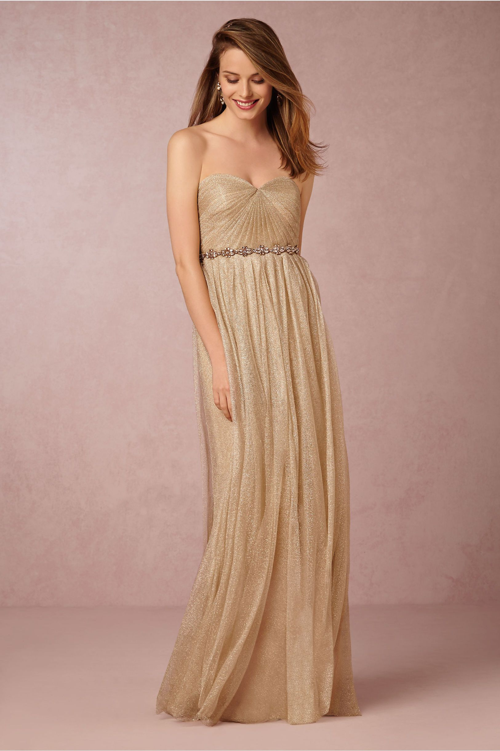 BHLDN\'s Jenny Yoo Annabelle Dress in Blush | Vestido dorado ...