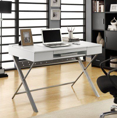 Monarch Specialties White Hollow Core Connect-It Tablet Desk, 48