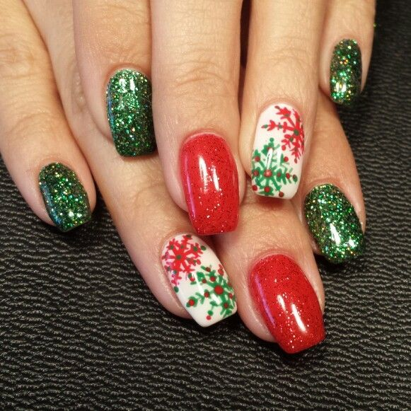 Image Result For Christmas Gel Nails
