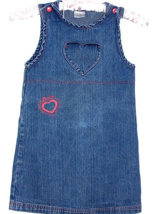 08350a52b75 Robe jean coeur taille 6 ans
