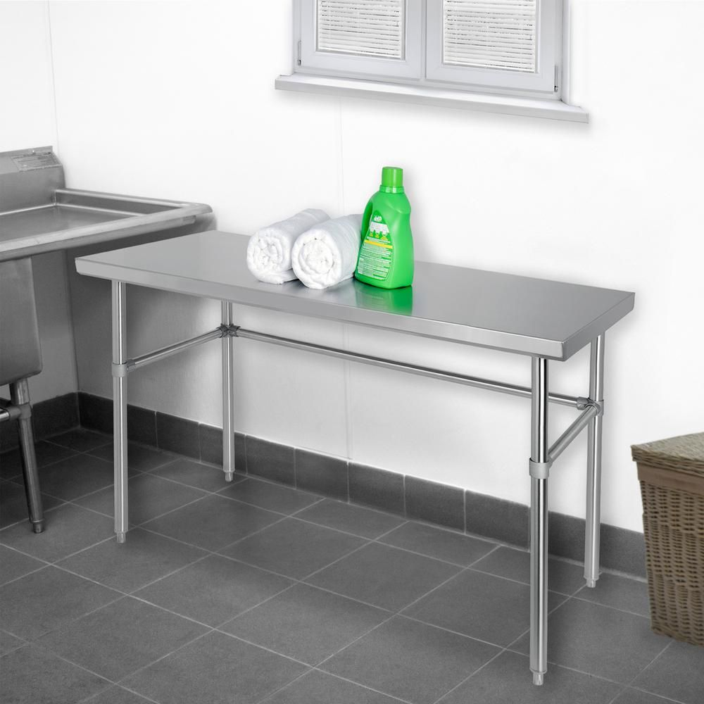 Stainless Steel Silver Kitchen Utility Table Kitchen Utilities