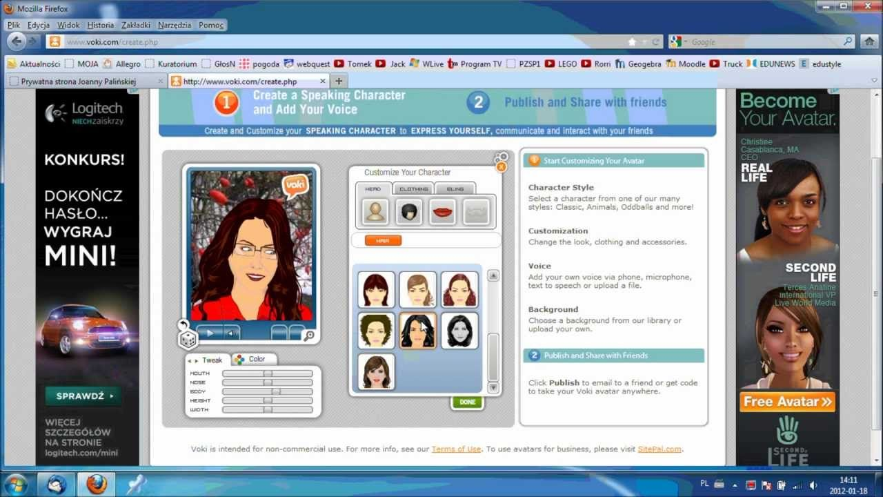 Awatar Voki Educational Technology Education Webquest