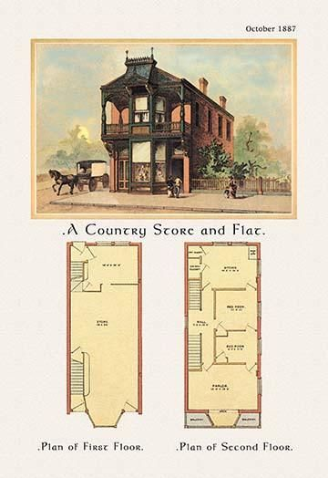 A Country Store And Flat Vintage House Plans Architecture Plan How To Plan