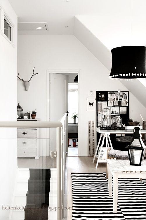 Divine black & white home office