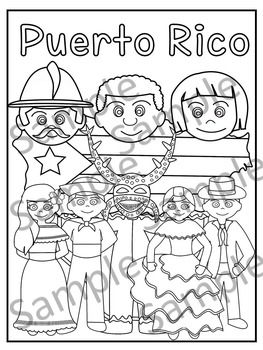 Puerto Rico Puerto Rico Hispanic Art Coloring Pages