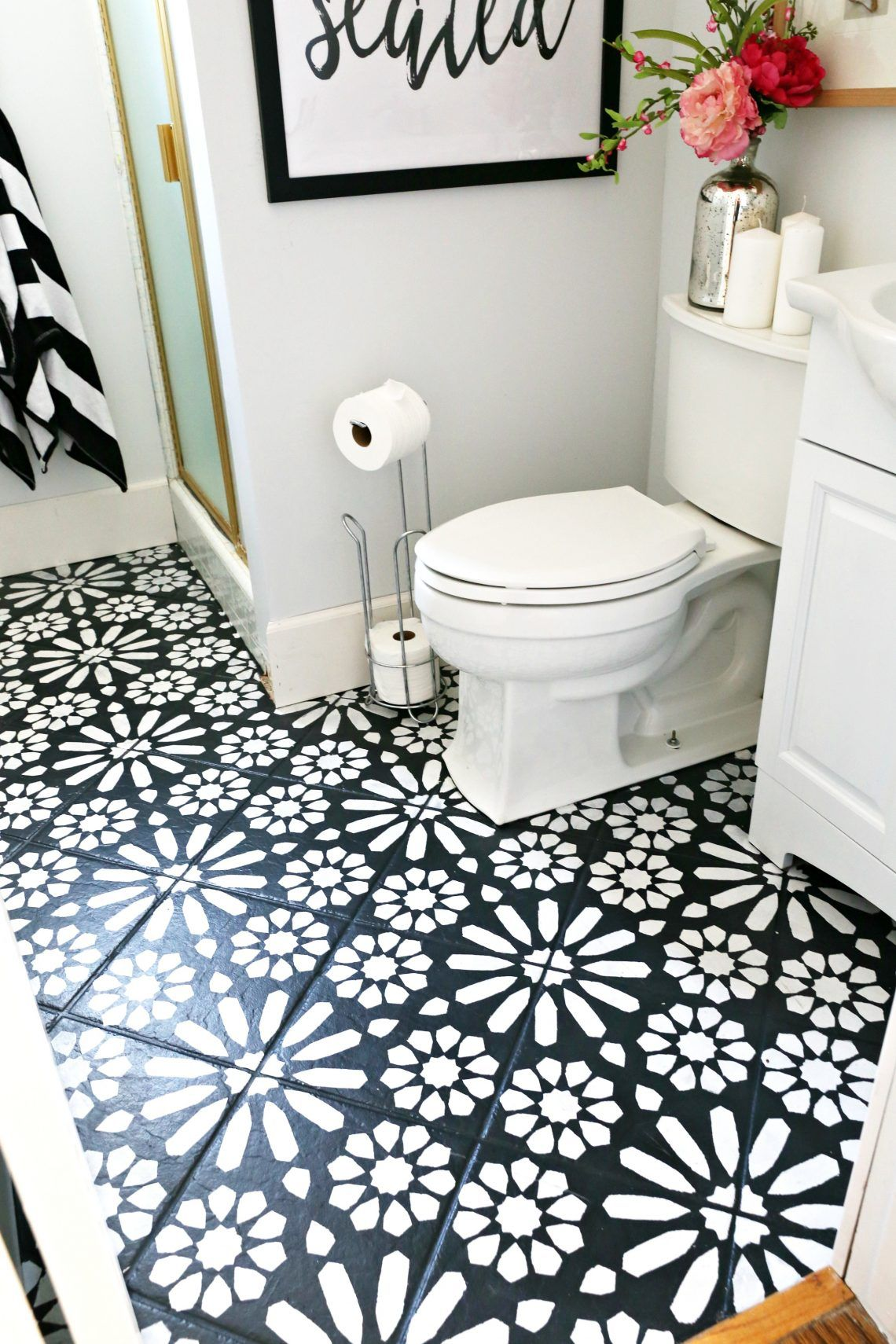 Bathroom Faucets Under $50 modern ranch reno: half bathroom flooring done cheap and easy- our