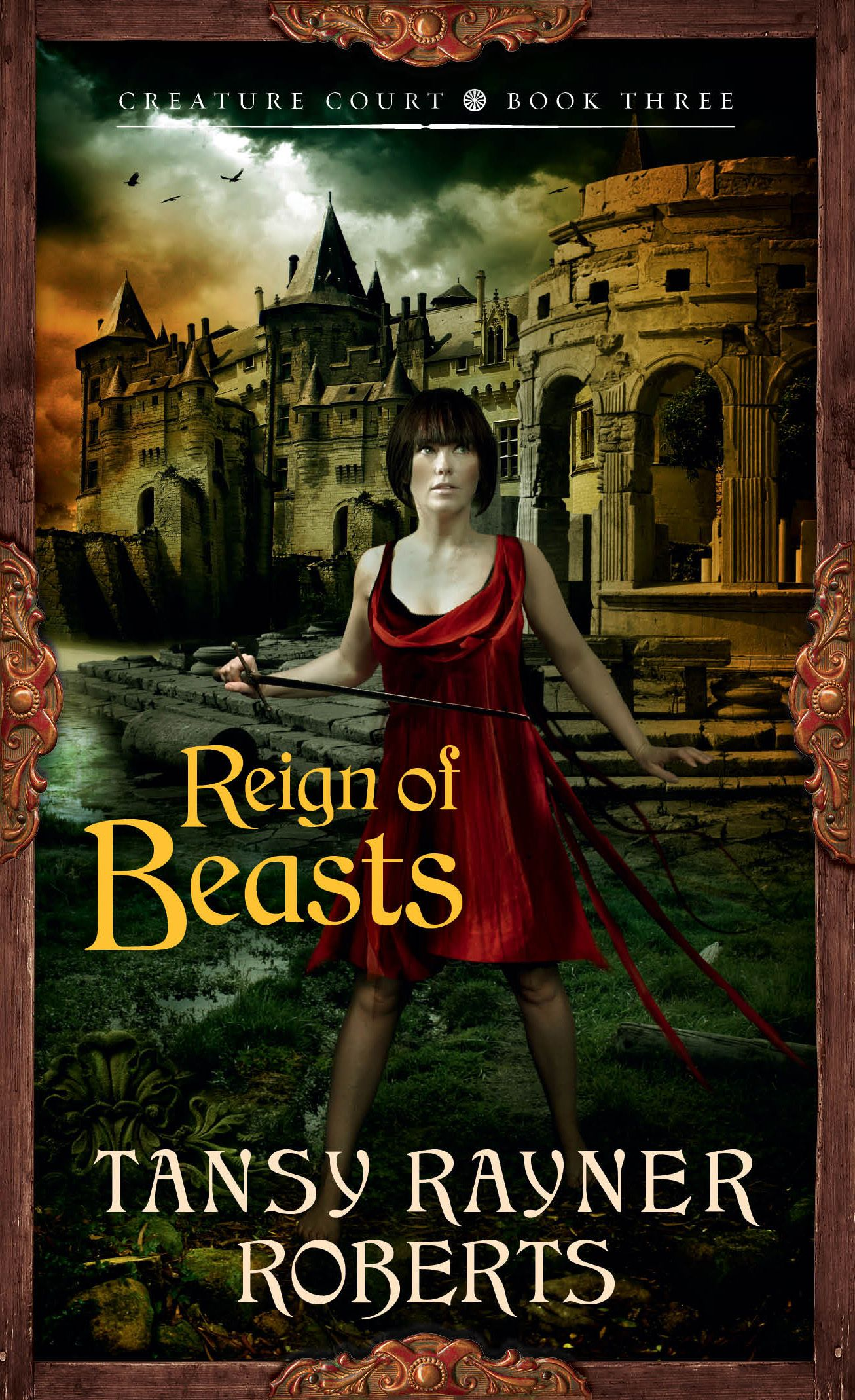 Livilla, on the cover of Reign of Beasts by Tansy Rayner Roberts