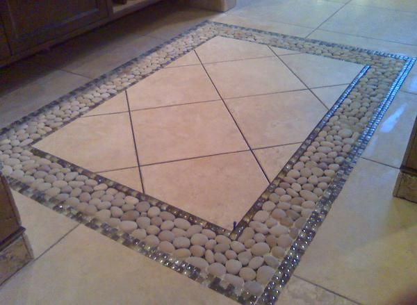 Foyer Tile Images : Pebble inlay entry foyer ceramic tile advice forums john bridge