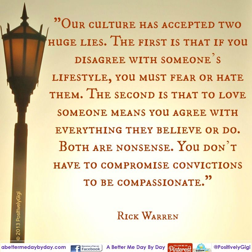 Being compassionate...