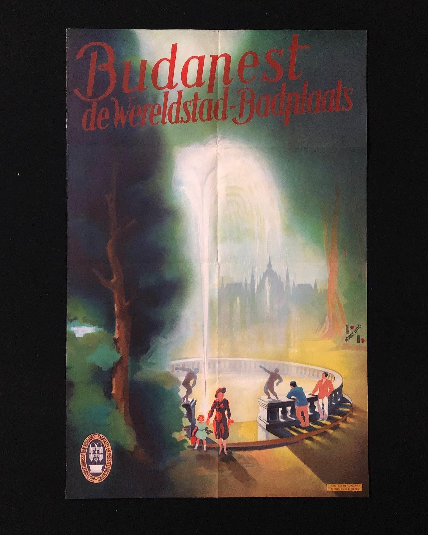 Emery P Revesz Biro Hongrois Titre Budapest Travel Poster 1930 En 2020 Hongrois