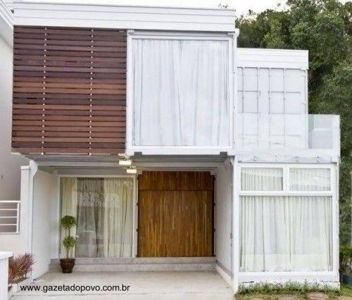 Moderna casa de dos plantas con contenedores casas - Casa de contenedores ...